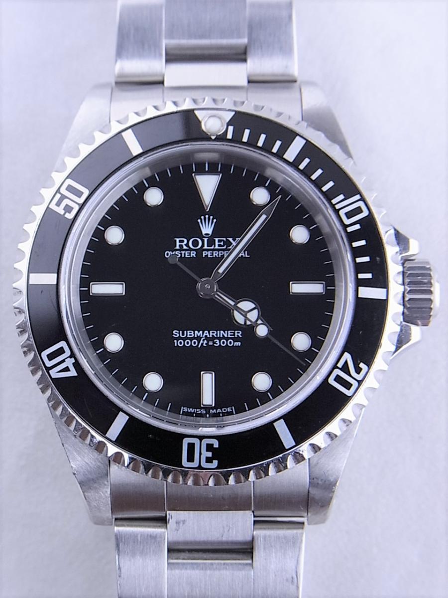ロレックスサブマリーナノンデイトモデル 14060M 自動巻きcal.3130 メンズ腕時計 買取実績 正面全体画像 時計を売るならピアゾ(PIAZO)