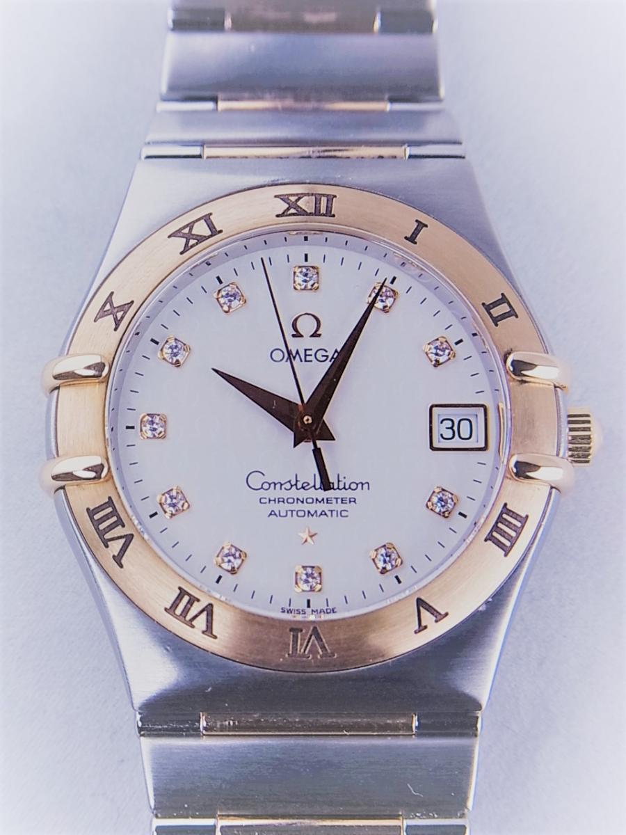 オメガ コンステレーション50th 1304.35 11Pダイヤモンドインデックス コンビモデル 35.5mmメンズ腕時計 買取実績 正面全体画像 時計を売るならピアゾ(PIAZO)