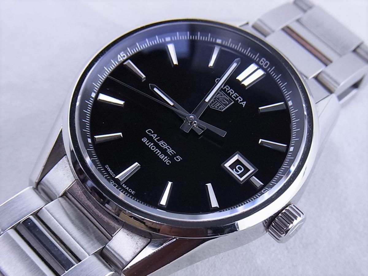 タグホイヤー カレラWAR211A.BA0782 キャリバー5 ステンレススティール 39mmメンズ腕時計 買取り実績 フェイス斜め画像 時計を売るならピアゾ(PIAZO)