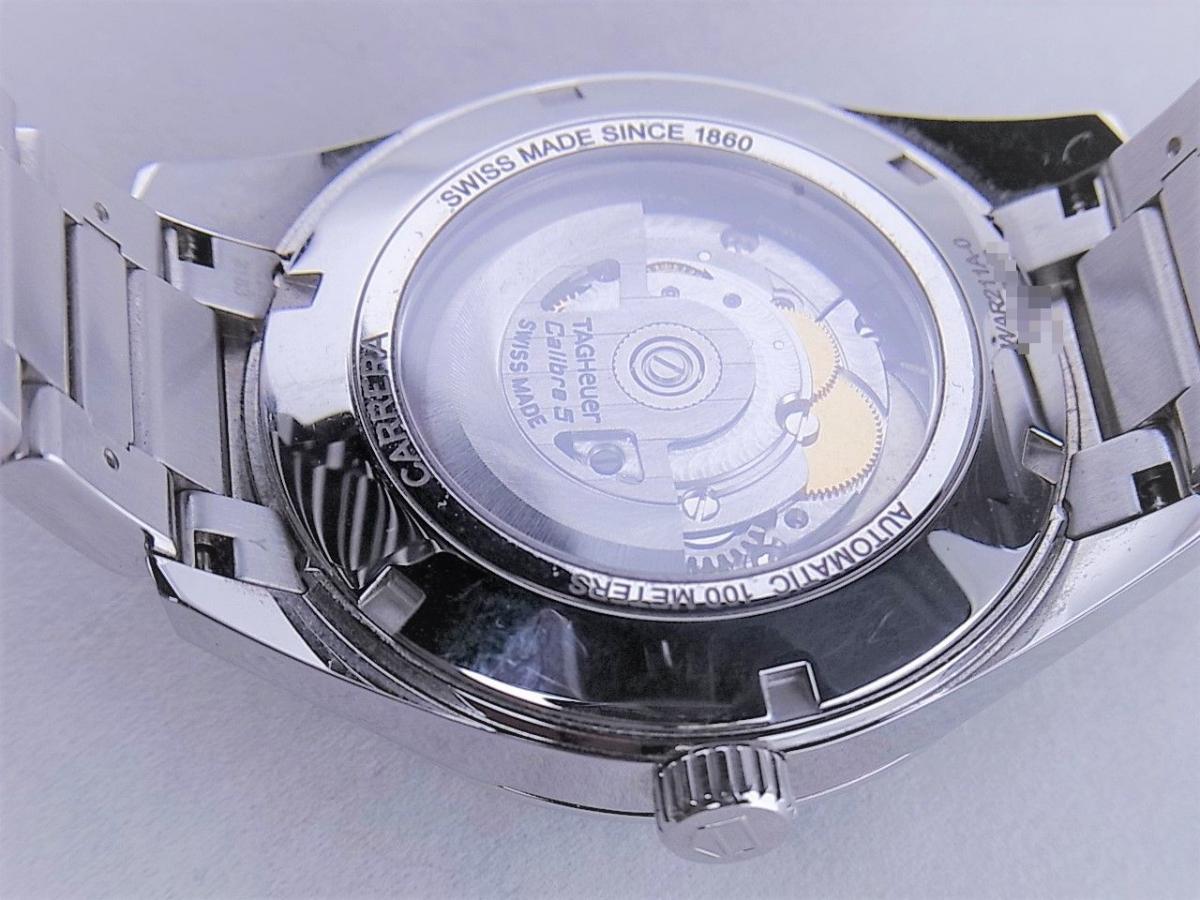 タグホイヤー カレラWAR211A.BA0782 キャリバー5 ステンレススティール 39mmメンズ腕時計 売却実績 裏蓋画像 時計を売るならピアゾ(PIAZO)