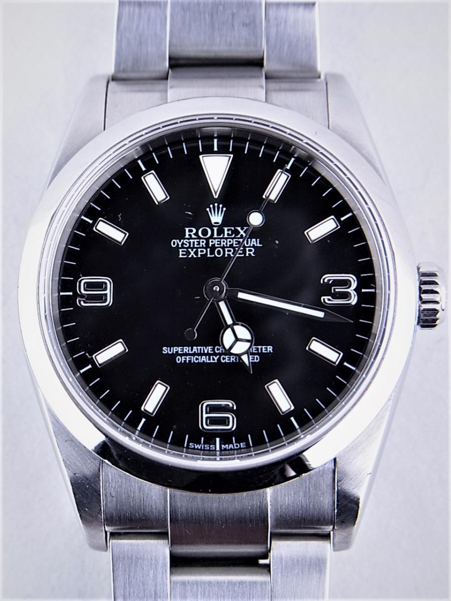 ロレックス エクスプローラー114270 cal.3130 シリアルF番(2003年頃製造) メンズ腕時計 買取実績 正面全体画像 時計を売るならピアゾ(PIAZO)