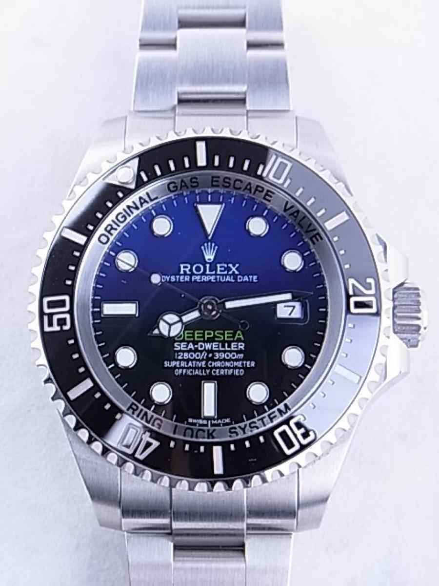 ロレックス シードゥエラーDブルー116660 3900m防水機能 メンズ腕時計 買取実績 正面全体画像 時計を売るならピアゾ(PIAZO)