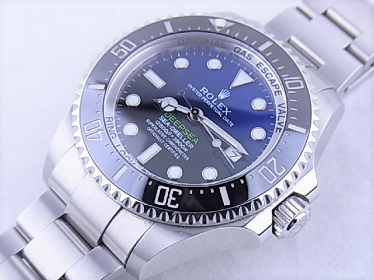 ロレックス シードゥエラーDブルー116660 3900m防水機能 メンズ腕時計 買取り実績 フェイス斜め画像 時計を売るならピアゾ(PIAZO)