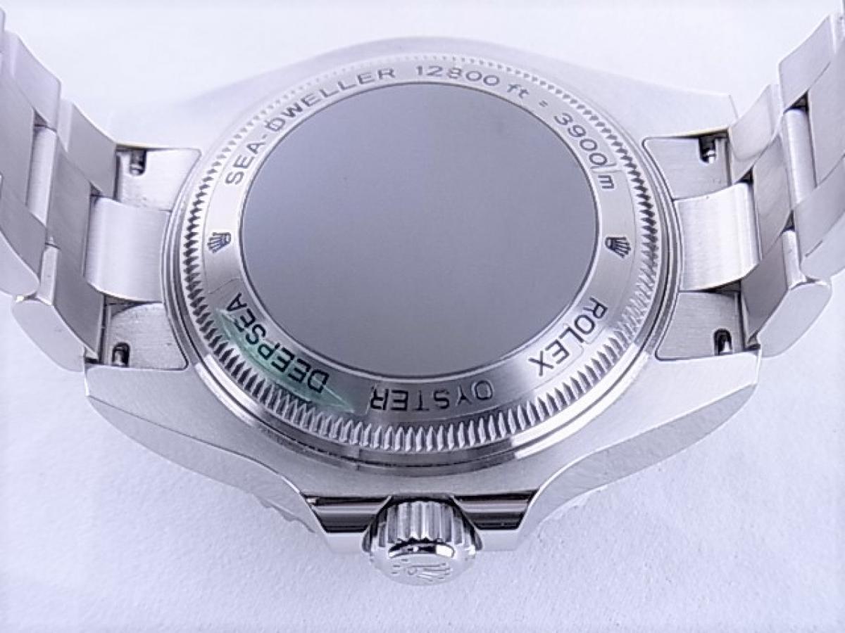 ロレックス シードゥエラーDブルー116660 3900m防水機能 メンズ腕時計 売却実績 裏蓋画像 時計を売るならピアゾ(PIAZO)