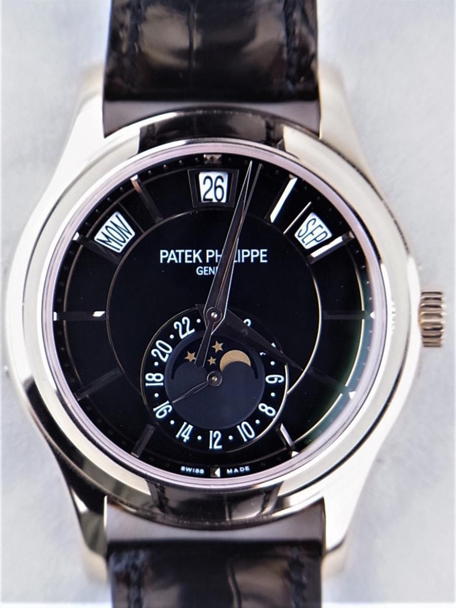 パテックフィリップ アニュアルカレンダー5205R-010 ムーンフェイズ シースルーバック メンズ腕時計 買取実績 正面全体画像 時計を売るならピアゾ(PIAZO)