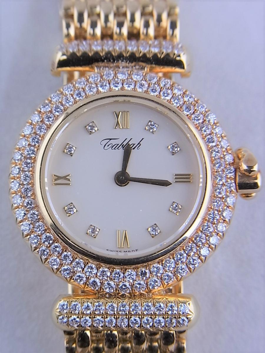 タバー ベレ K18 ダイヤモンドベゼル&8pダイヤモンドインデックス 1211.003.130 レディース腕時計 買取実績 正面全体画像 時計を売るならピアゾ(PIAZO)