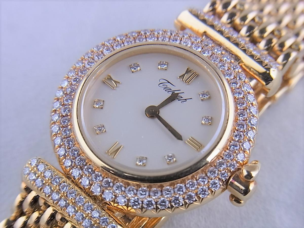 タバー ベレ K18 ダイヤモンドベゼル&8pダイヤモンドインデックス 1211.003.130 レディース腕時計 買取り実績 フェイス斜め画像 時計を売るならピアゾ(PIAZO)