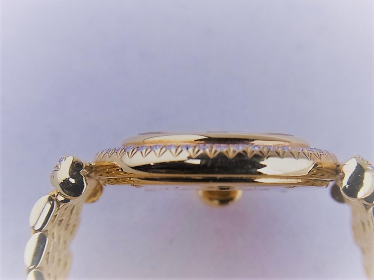 タバー ベレ K18 ダイヤモンドベゼル&8pダイヤモンドインデックス 1211.003.130 レディース腕時計 高額売却実績 9時ケースサイド画像 時計を売るならピアゾ(PIAZO)