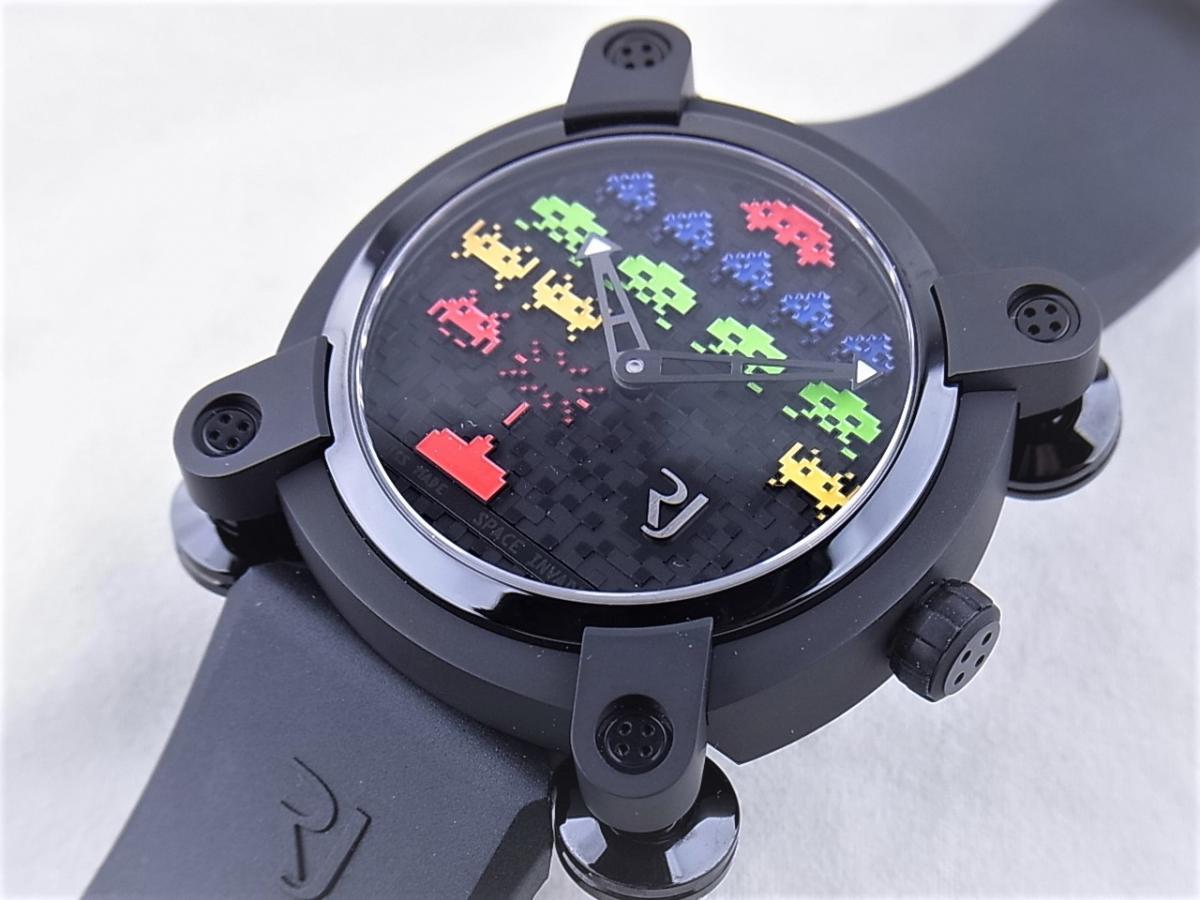ロマンジェローム スペースインベーダー RJ.M.AU.IN.021.01 世界限定78本 買取り実績 フェイス斜め画像 時計を売るならピアゾ(PIAZO)