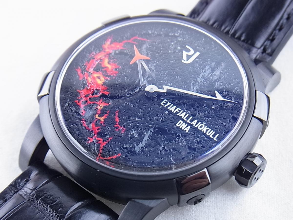 ロマンジェローム エイヤフィヤトラヨークトルRJ.V.AU.003.01 世界限定99本 買取り実績 フェイス斜め画像 時計を売るならピアゾ(PIAZO)