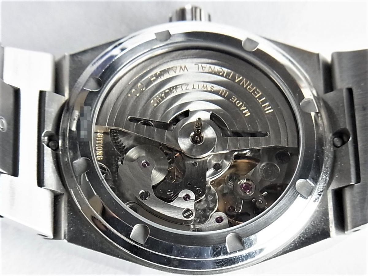 IWC インヂュニアオートマIW322801 メンズ腕時計 売却実績 裏蓋シースルーバック画像 時計を売るならピアゾ(PIAZO)