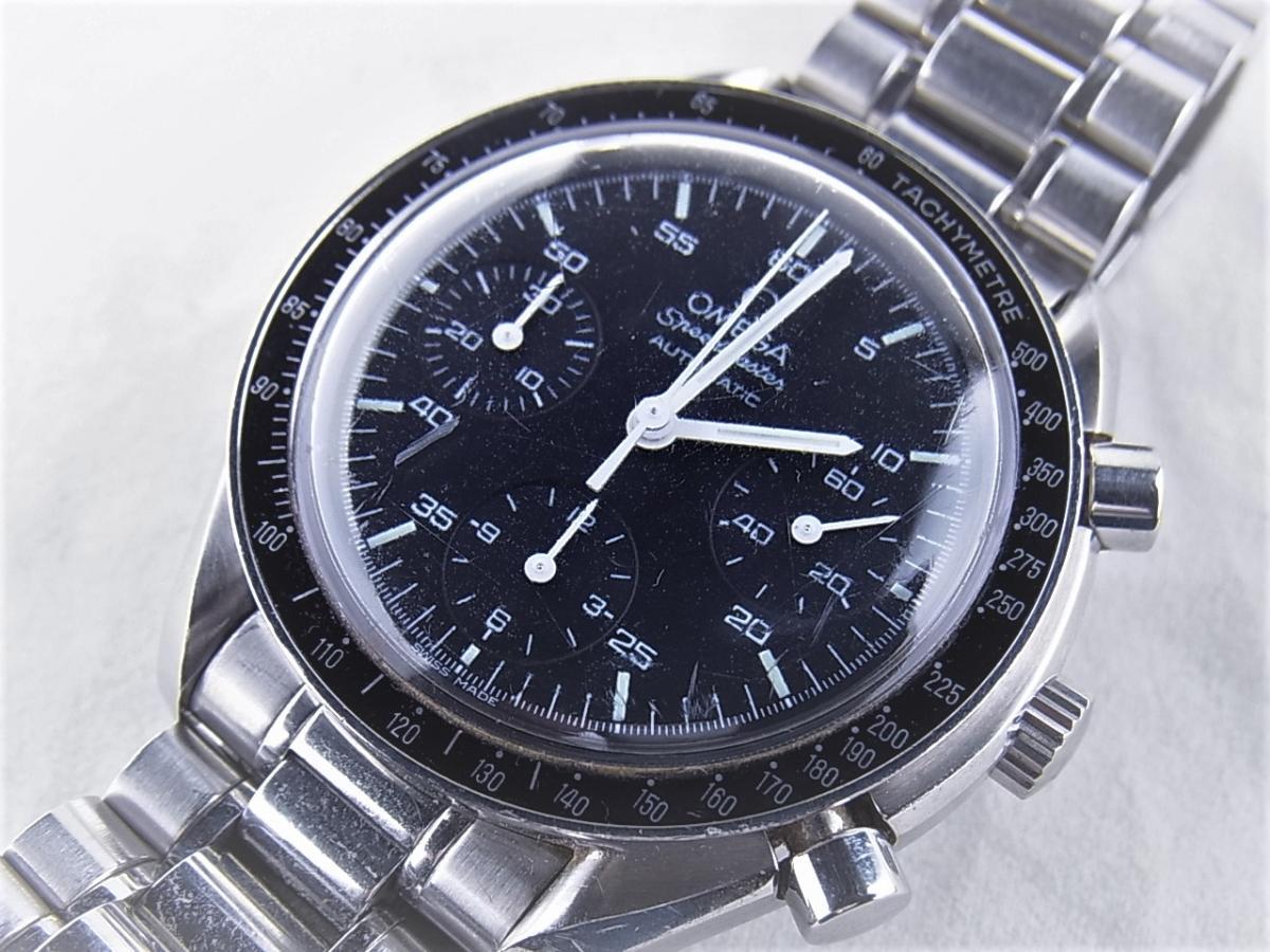 オメガ スピードマスター オートマティック Ref35105000 買取り実績 フェイス斜め画像 時計を売るならピアゾ(PIAZO)
