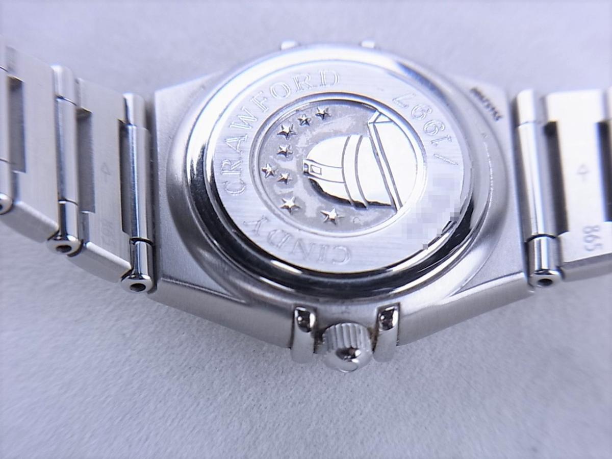 オメガ コンステレーションシンディ―クロフォード1997本1563.85 売却実績 裏蓋画像 時計を売るならピアゾ(PIAZO)
