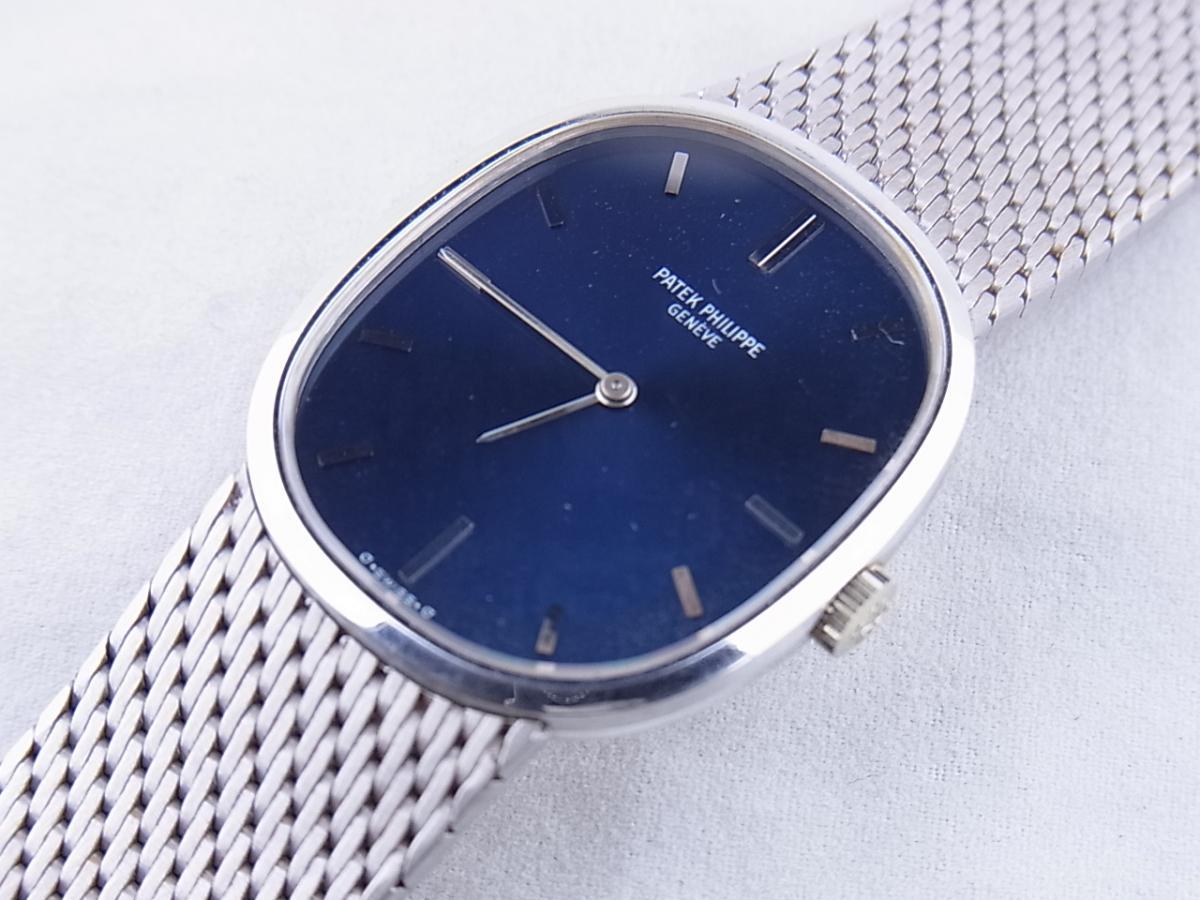 パテックフィリップ ゴールデンエリプス3748-1 WG 買取り実績 フェイス斜め画像 時計を売るならピアゾ(PIAZO)