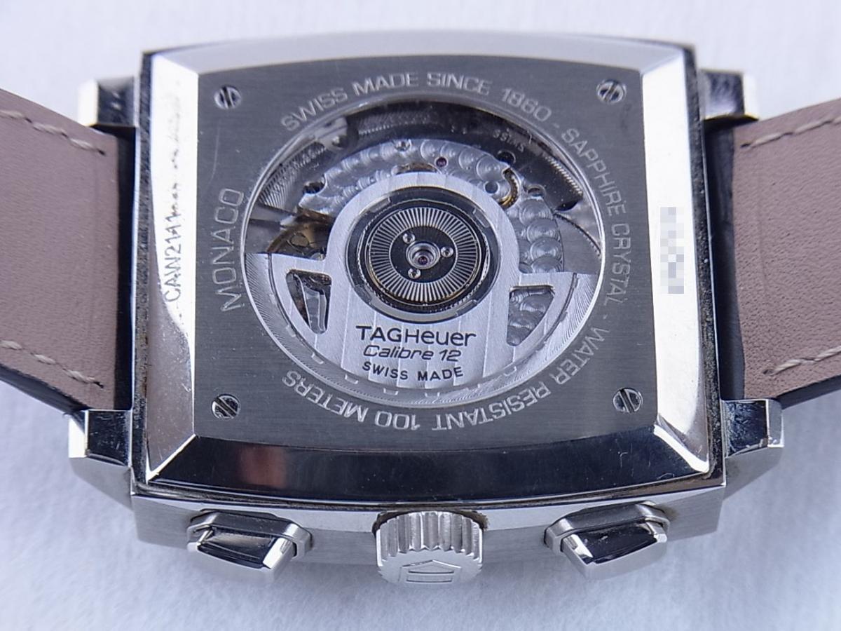 タグホイヤー モナコ CAW2111.FC6183 売却実績 裏蓋シースルーバック画像 時計を売るならピアゾ(PIAZO)