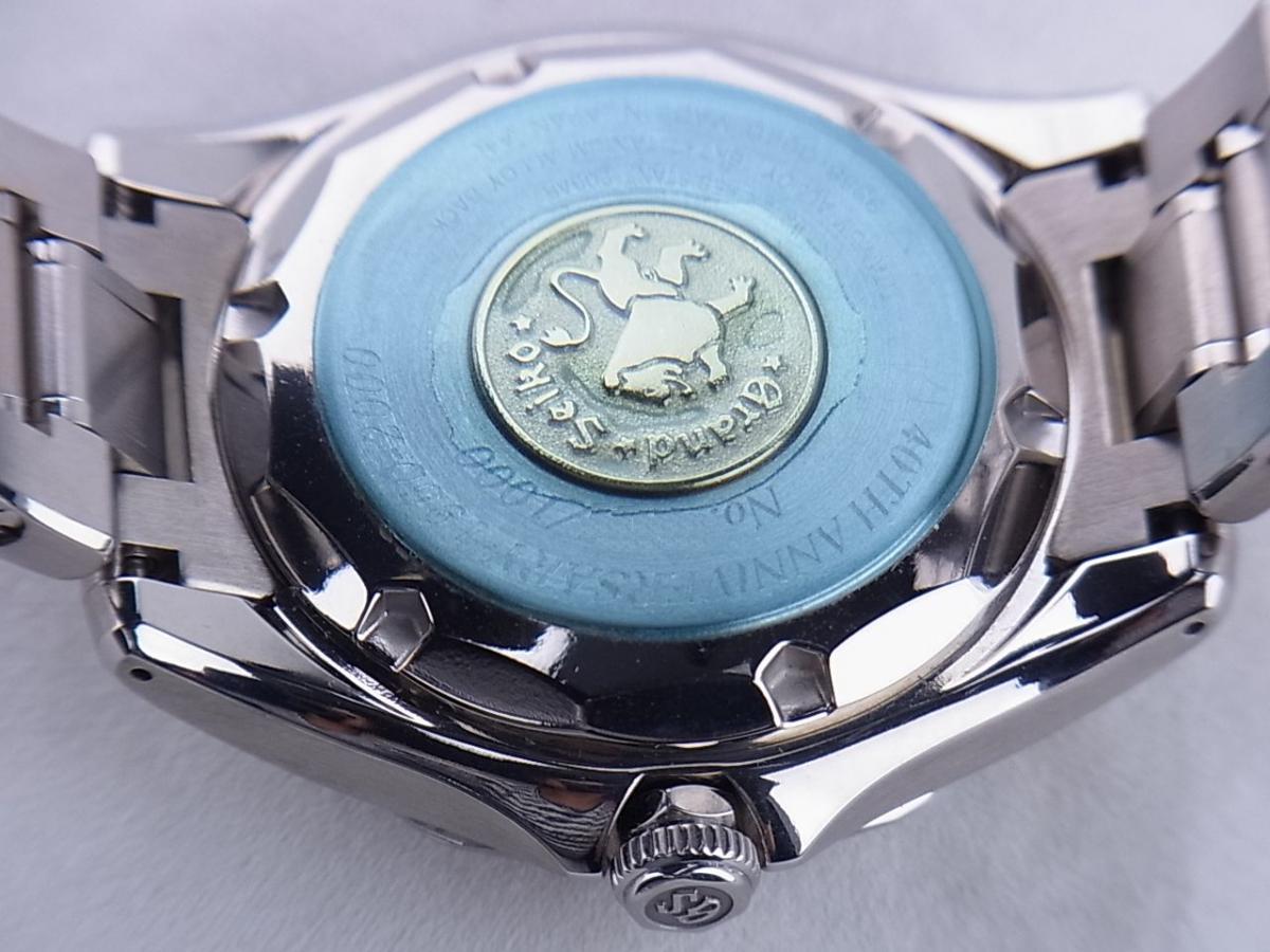 グランドセイコー 40THメカニカルSBGR011 9S55-0040 売却実績 裏蓋画像 時計を売るならピアゾ(PIAZO)