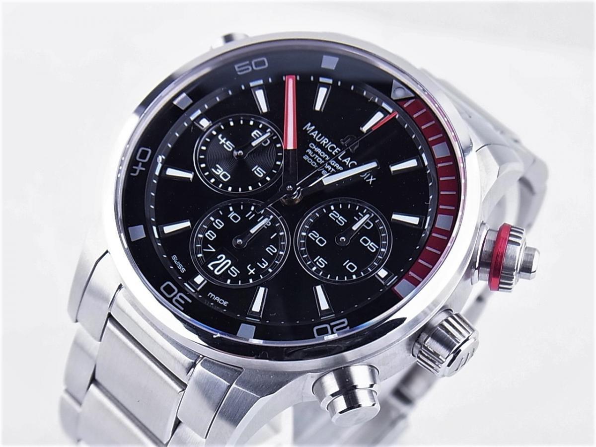 モーリスラクロア ポントス クロノグラフ PT6018-SS002-330 買取り実績 フェイス斜め画像 時計を売るならピアゾ(PIAZO)