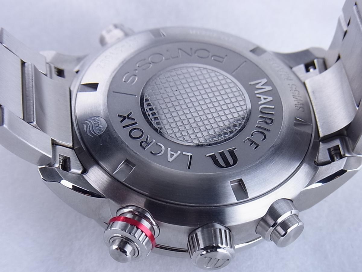 モーリスラクロア ポントス クロノグラフ PT6018-SS002-330 売却実績 裏蓋画像 時計を売るならピアゾ(PIAZO)