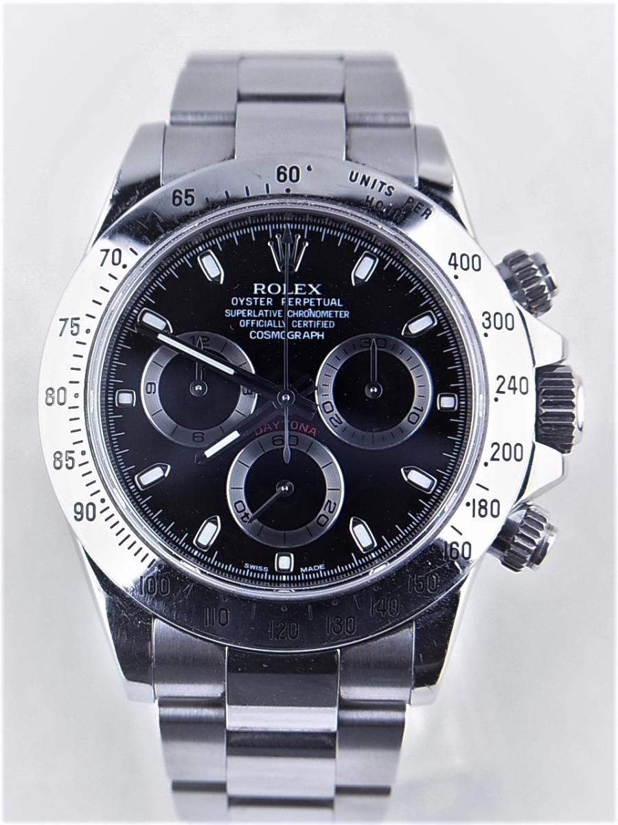 ロレックス デイトナ 116520 買取実績 正面全体画像 時計を売るならピアゾ(PIAZO)