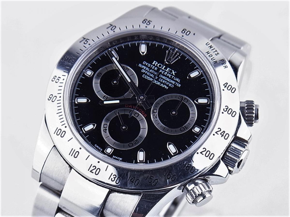 ロレックス デイトナ 116520 買取り実績 フェイス斜め画像 時計を売るならピアゾ(PIAZO)