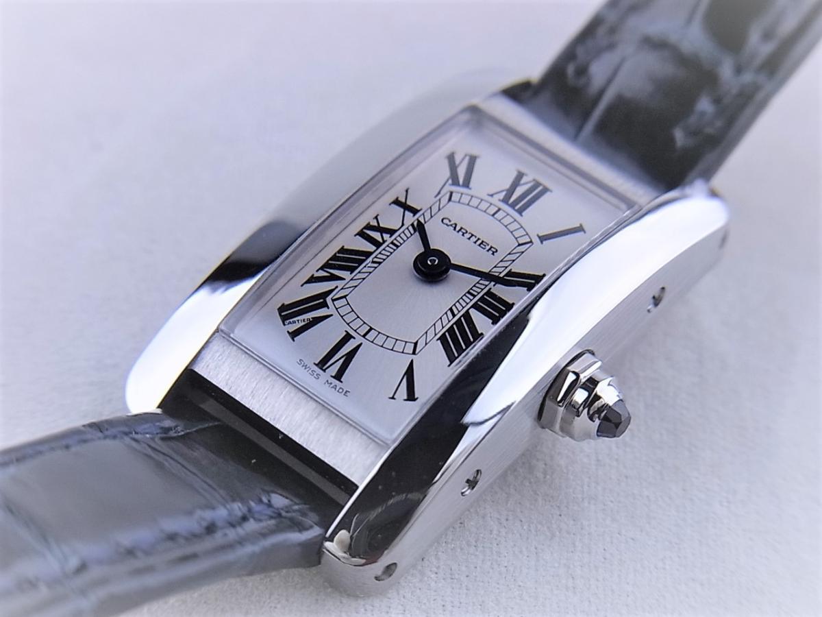 カルティエタンクアメリカンミニ日本限定モデル WSTA0032 買取り実績 フェイス斜め画像 時計を売るならピアゾ(PIAZO)