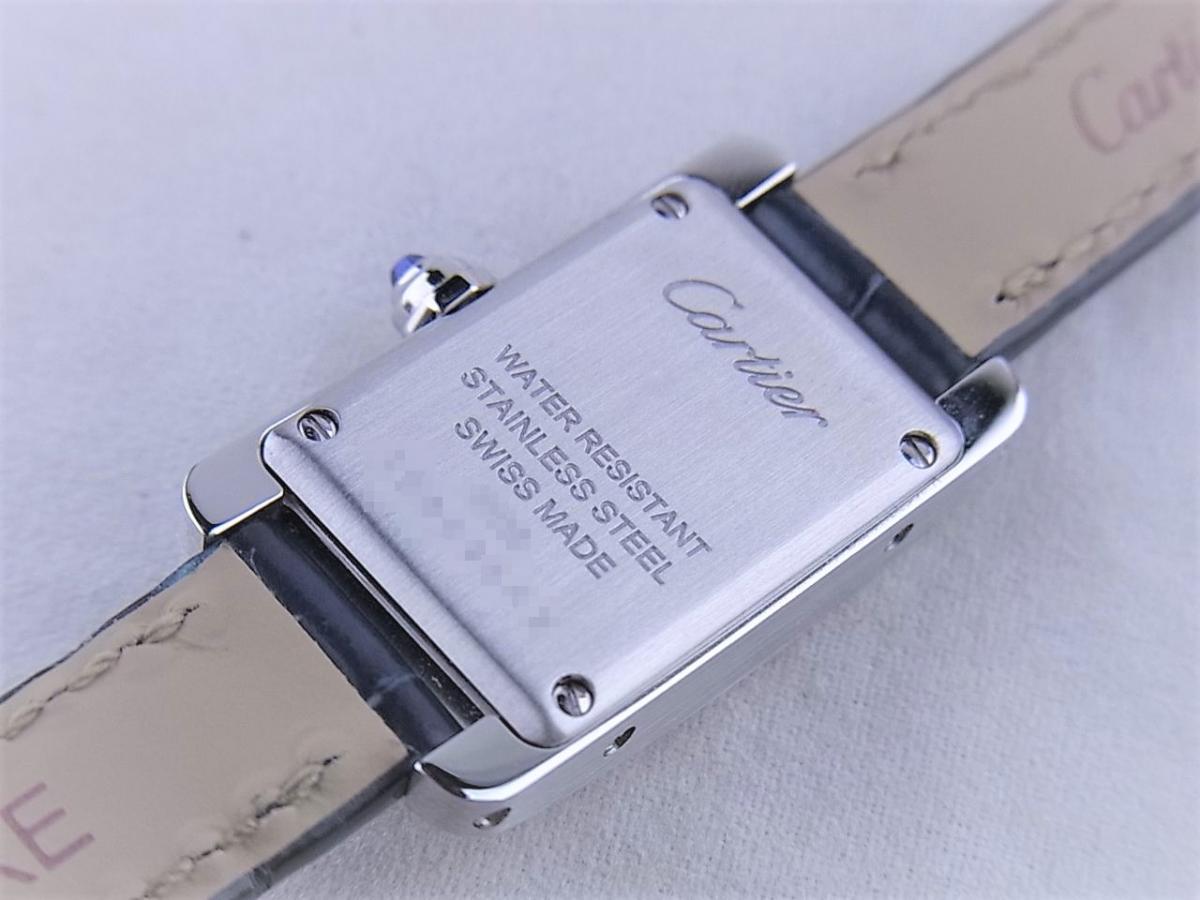 カルティエタンクアメリカンミニ日本限定モデル WSTA0032 売却実績 裏蓋画像 時計を売るならピアゾ(PIAZO)