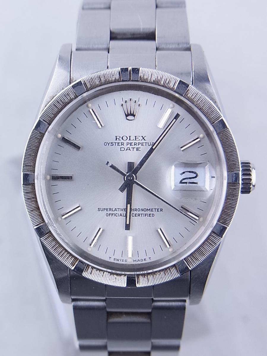 ロレックス オイスターパーペチュアルデイト型番15010 買取実績 正面全体画像 時計を売るならピアゾ(PIAZO)