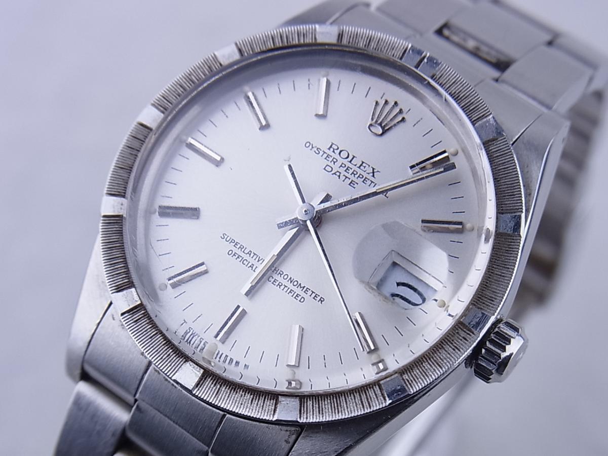 ロレックス オイスターパーペチュアルデイト型番15010 買取り実績 フェイス斜め画像 時計を売るならピアゾ(PIAZO)