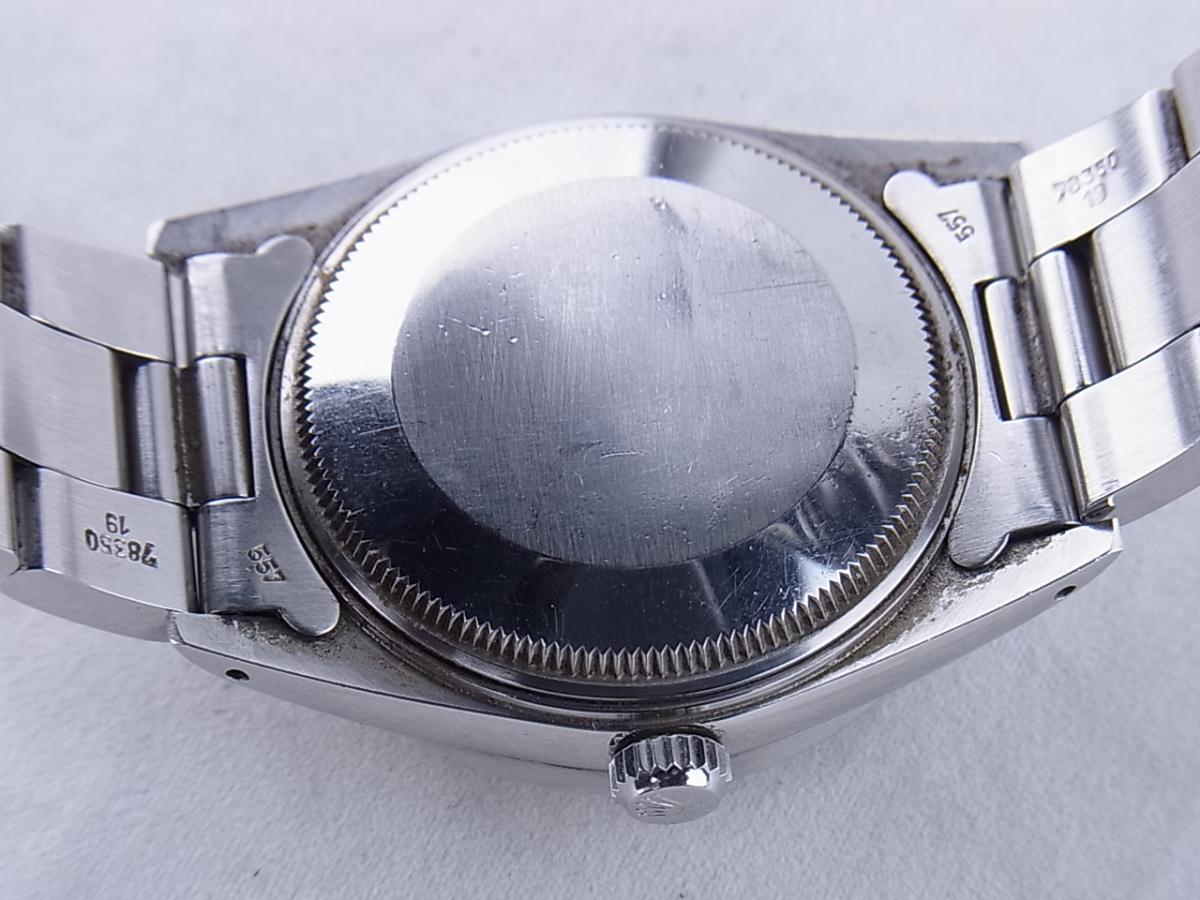 ロレックス オイスターパーペチュアルデイト型番15010 売却実績 裏蓋画像 時計を売るならピアゾ(PIAZO)