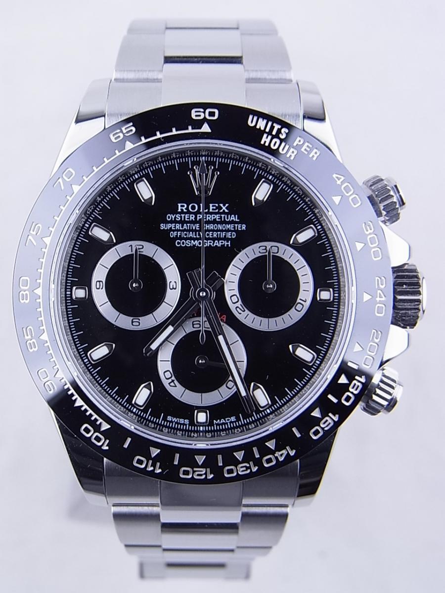 ロレックス デイトナ 116500LN 黒文字盤 買取実績 正面全体画像 時計を売るならピアゾ(PIAZO)