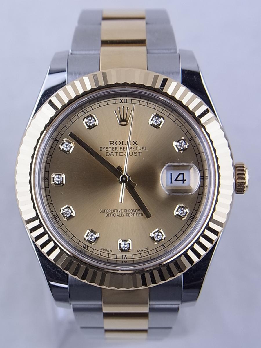 ロレックス デイトジャストⅡ 116333G 買取実績 正面全体画像 時計を売るならピアゾ(PIAZO)