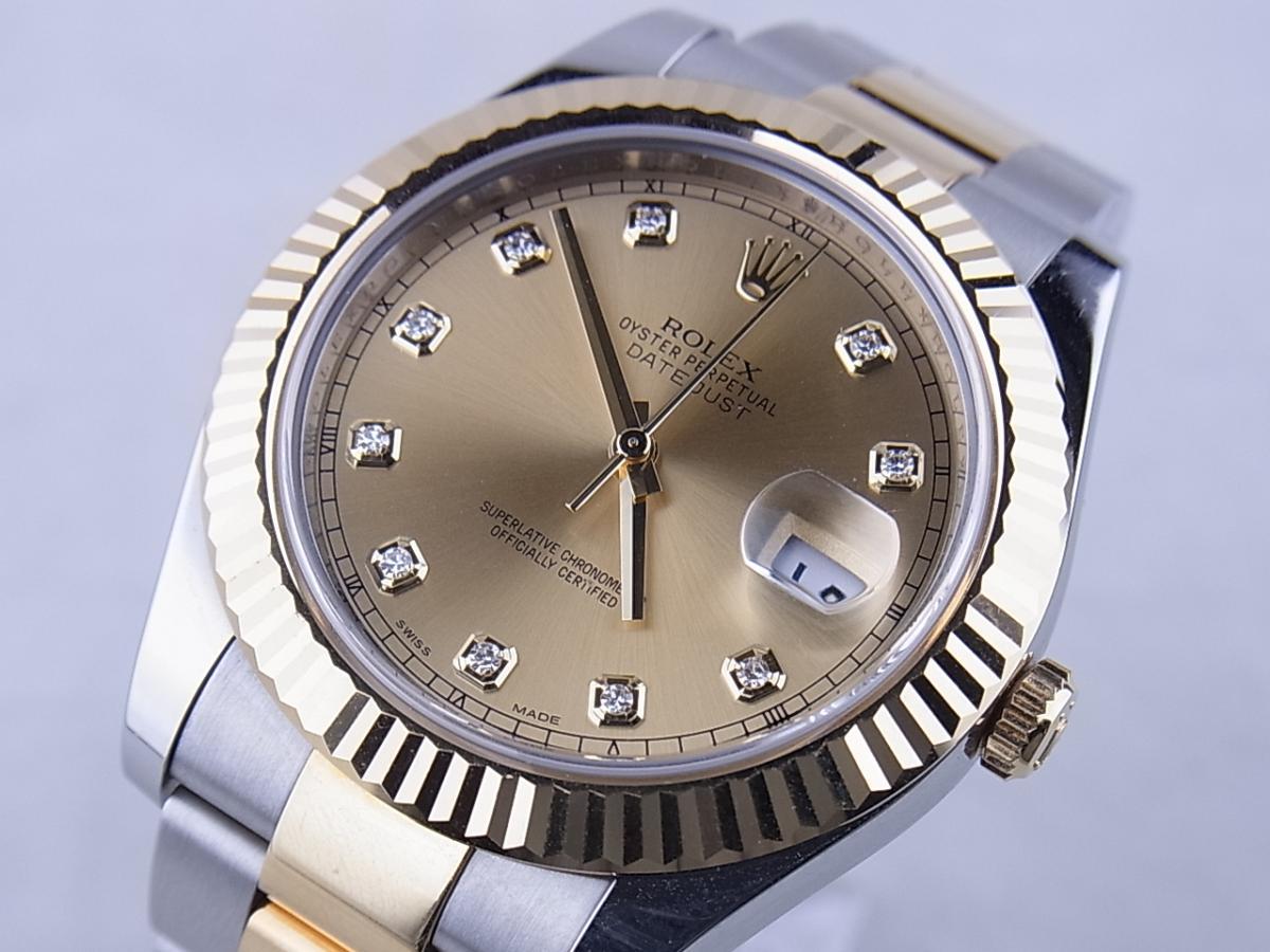 ロレックス デイトジャストⅡ 116333G 買取り実績 フェイス斜め画像 時計を売るならピアゾ(PIAZO)