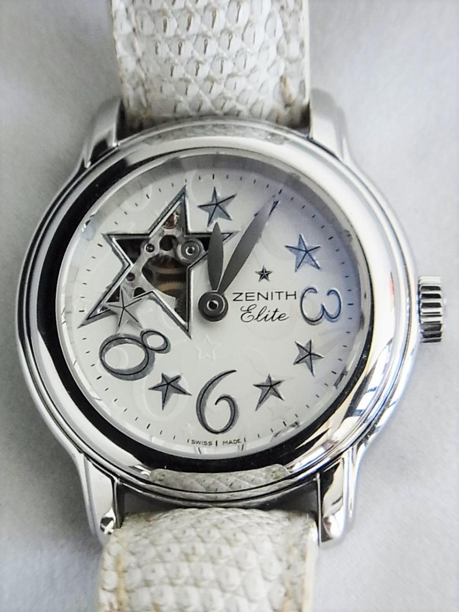 ゼニス ベイビースターオープンスカイ03.1220.68/32.C581 オープンスター 自動巻きエリート68 レディースモデル 買取実績 正面全体画像 時計を売るならピアゾ(PIAZO)
