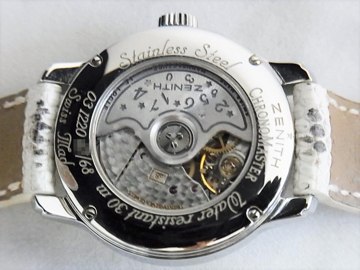 ゼニス ベイビースターオープンスカイ03.1220.68/32.C581 オープンスター 自動巻きエリート68 レディースモデル 売却実績 裏蓋シースルーバック画像 時計を売るならピアゾ(PIAZO)