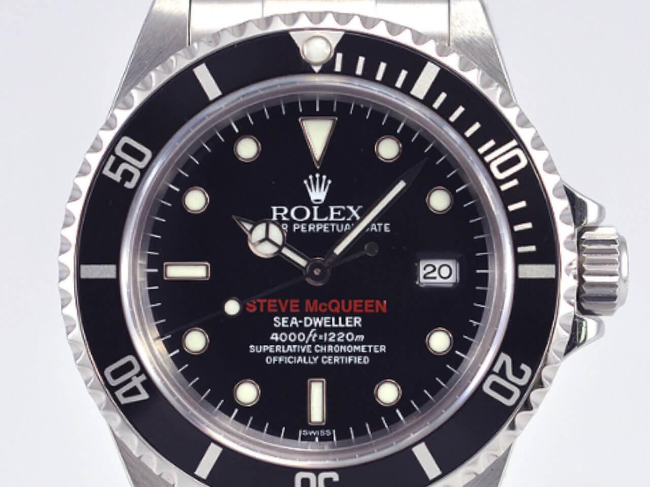 """6e5b326a6f ロレックス(Rolex)のシードゥエラー(Sea-Dweller )16600 """"STEVE McQUEEN"""