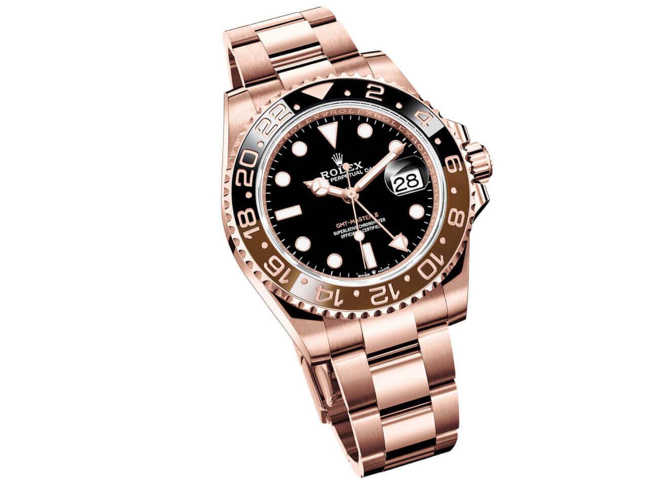 big sale bbdf4 dca53 ロレックス新作 126715CHNR GMTマスターII エバーローズゴールド ...