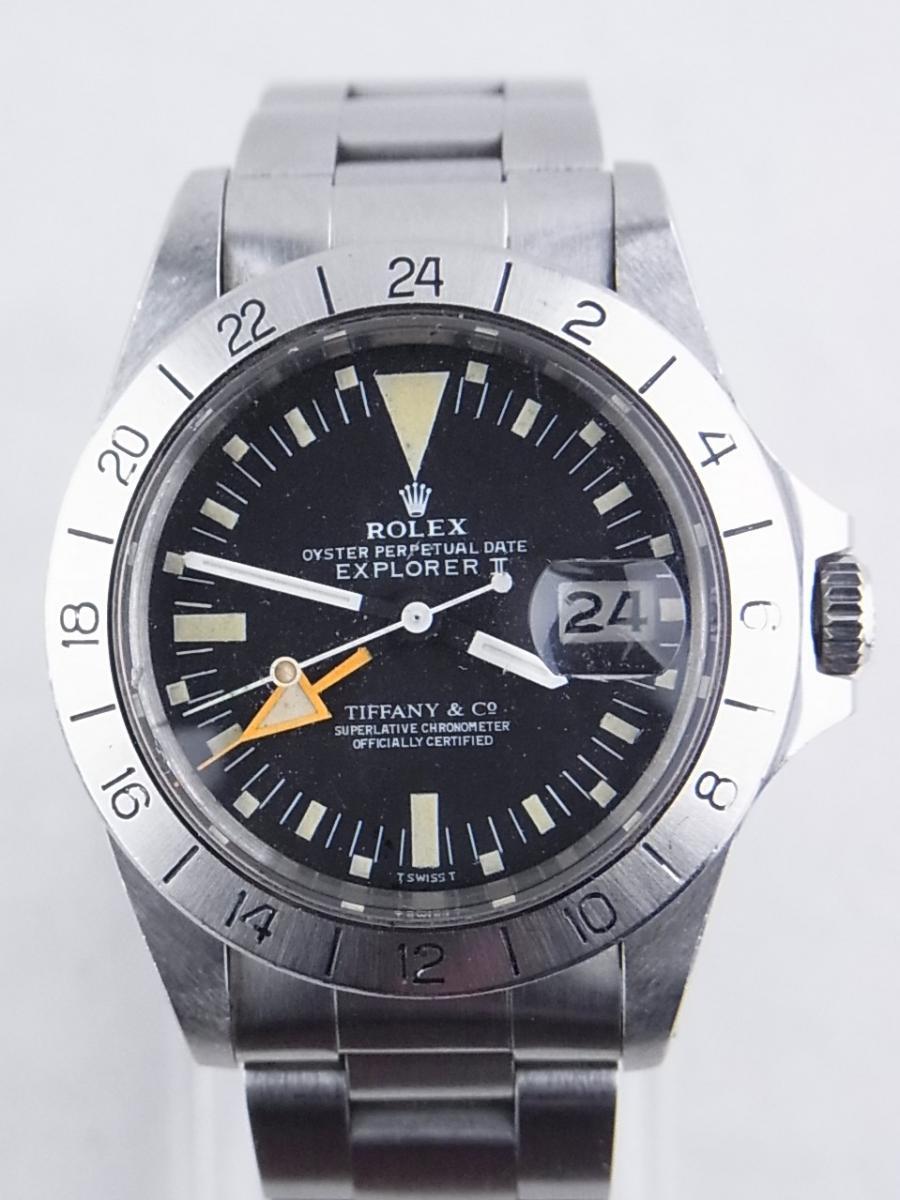 buy popular e609e a288b ロレックス エクスプローラーⅡ 1655(ティファニーWネーム ...