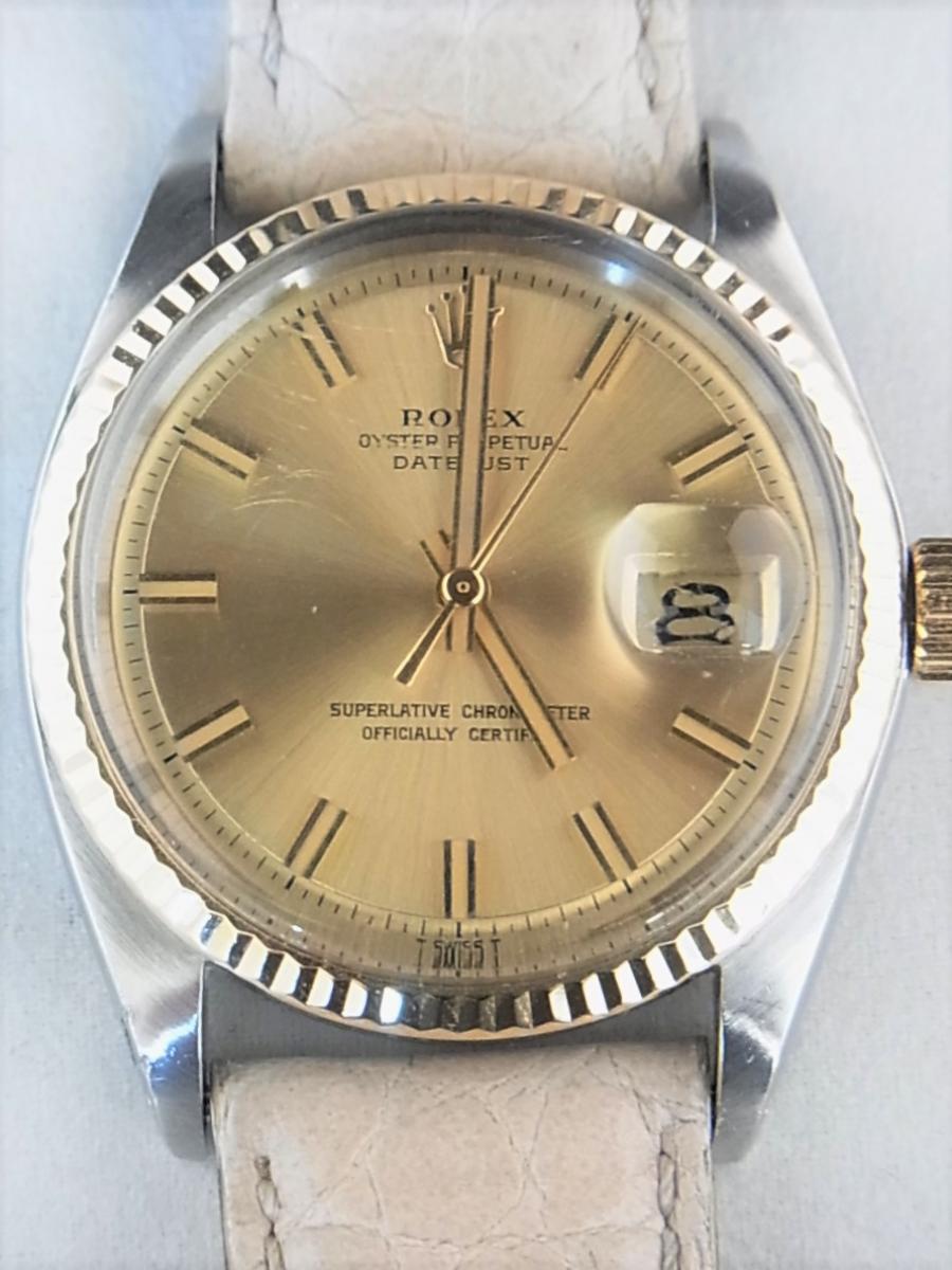 finest selection 34bc3 70f41 ロレックス デイトジャスト 1601(1601/3、シャンパンゴールド ...