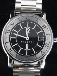 buy online b005b b86a1 ブルガリ ソロテンポ ST35S(クオーツ、シルバーブラック ...